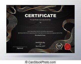 Certificate template design with simple concept. business certificate design.