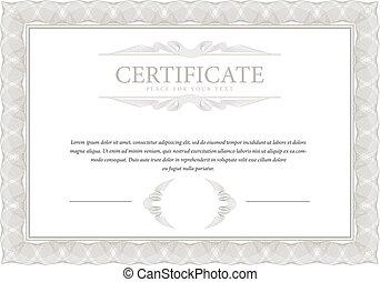 Elegant diploma certificate template forcompletion with gold border certificate template diploma border yadclub Images