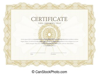 Certificate. Template diploma border. Award background Gift...