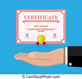 Certificate template. Diploma or accreditation - Certificate...