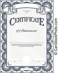 Certificate Template - Diploma or Certificate Blank Vintage ...
