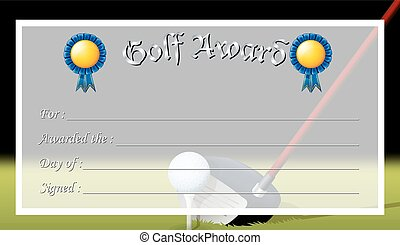 Certificate template for golf award illustration vector search certificate template for golf award illustration yelopaper Choice Image