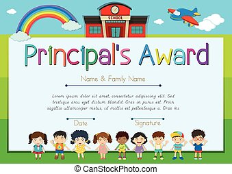 certificate template for principals award illustration