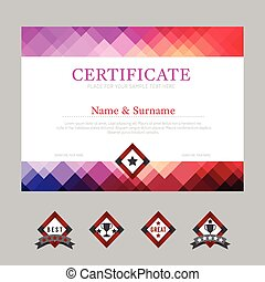 Certificate template layout background frame design vector....
