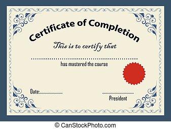 Certificate template vector illustration.