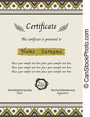 certificate tribal