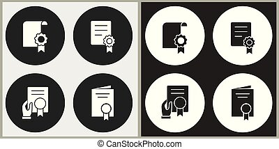 Certificate - vector icon.