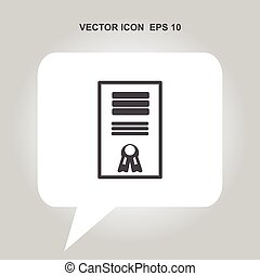 certificate vector icon