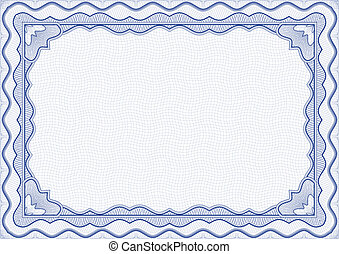 Certificate - Vector illustration - blue certificate ...