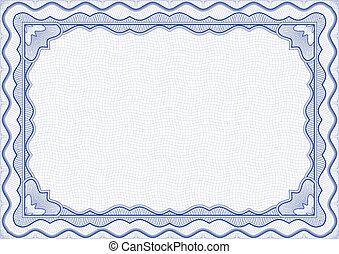 Certificate - Vector illustration - blue certificate ...