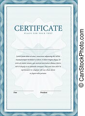 Certificate. Vector pattern that is used in currency and ...