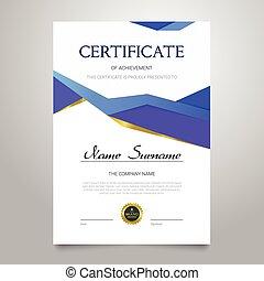 Certificate - vertical elegant vector document - Certificate...