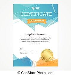 Certificate Vertical Template. Vector - Certificate Vertical...