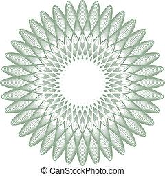 guilloche rosette, watermark - editable vector illustration