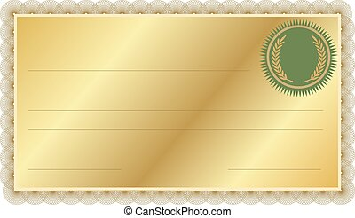 Certificate with Border