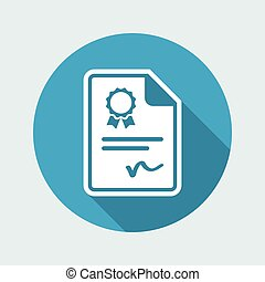 Certificated document - Vector icon