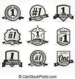 certificaten, 1, vector, getal, kentekens