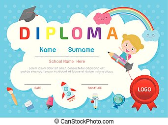 kindergarten certificate template for preschool graduation course