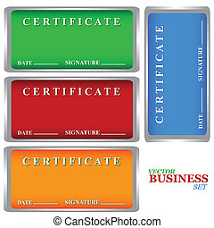 Certificates set