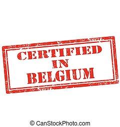 certificato, belgium-stamp