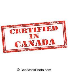 certificato, canada-stamp