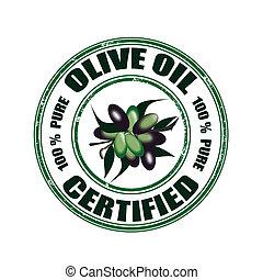 certificato, francobollo, olio oliva