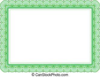 certificato, in, verde, colori