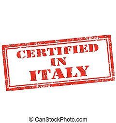 certificato, italy-stamp