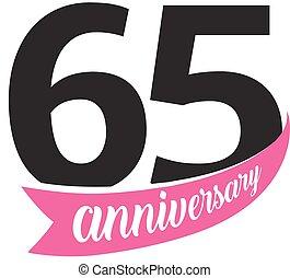 Anniversario Matrimonio 65.Vettore Certificato Manifesto Scheda Anniversario