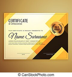 certificato, moderno, creativo, forme, disegno, sagoma,...