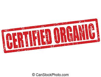 certificato, organico, francobollo
