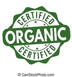 certificato, organico, segno, o, francobollo