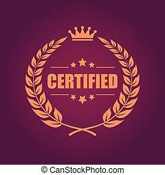 certificato, prodotto, emblema