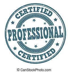 certificato, professionale, francobollo