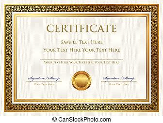 certificato, realizzazione