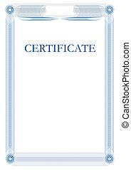 certificato, sagoma