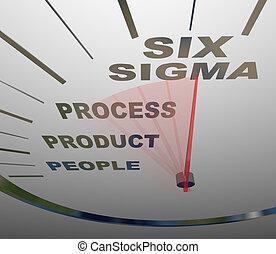 certificazione, tachimetro, sei, -, accelerare, sigma