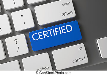 Certified - Blue Key. 3D