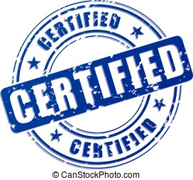 Certified blue stamp