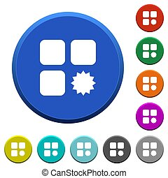 Certified component beveled buttons