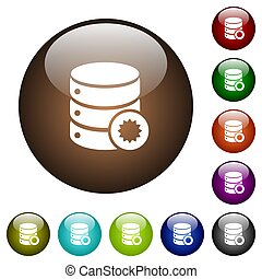Certified database color glass buttons