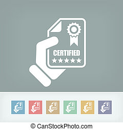 Certified document icon