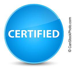 Certified elegant cyan blue round button