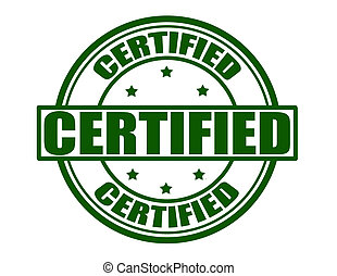 Certified - Stamp with word certified inside,vector...