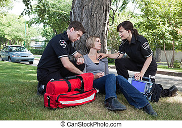 Certified First Responder with Patient - Emergency medical...