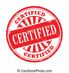 certified grunge rubber stamp - illustration of grunge...