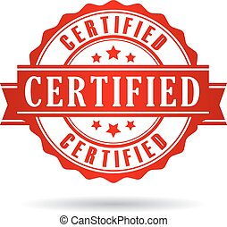 Certified icon isolated on white background