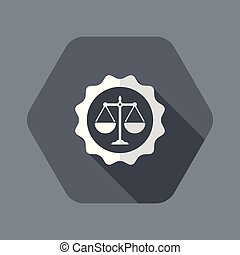 Certified legal services icon - Flat and isolated vector ...