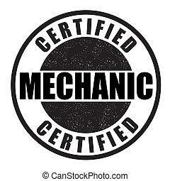Certified mechanic stamp