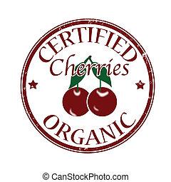 certified organic cherries stamp
